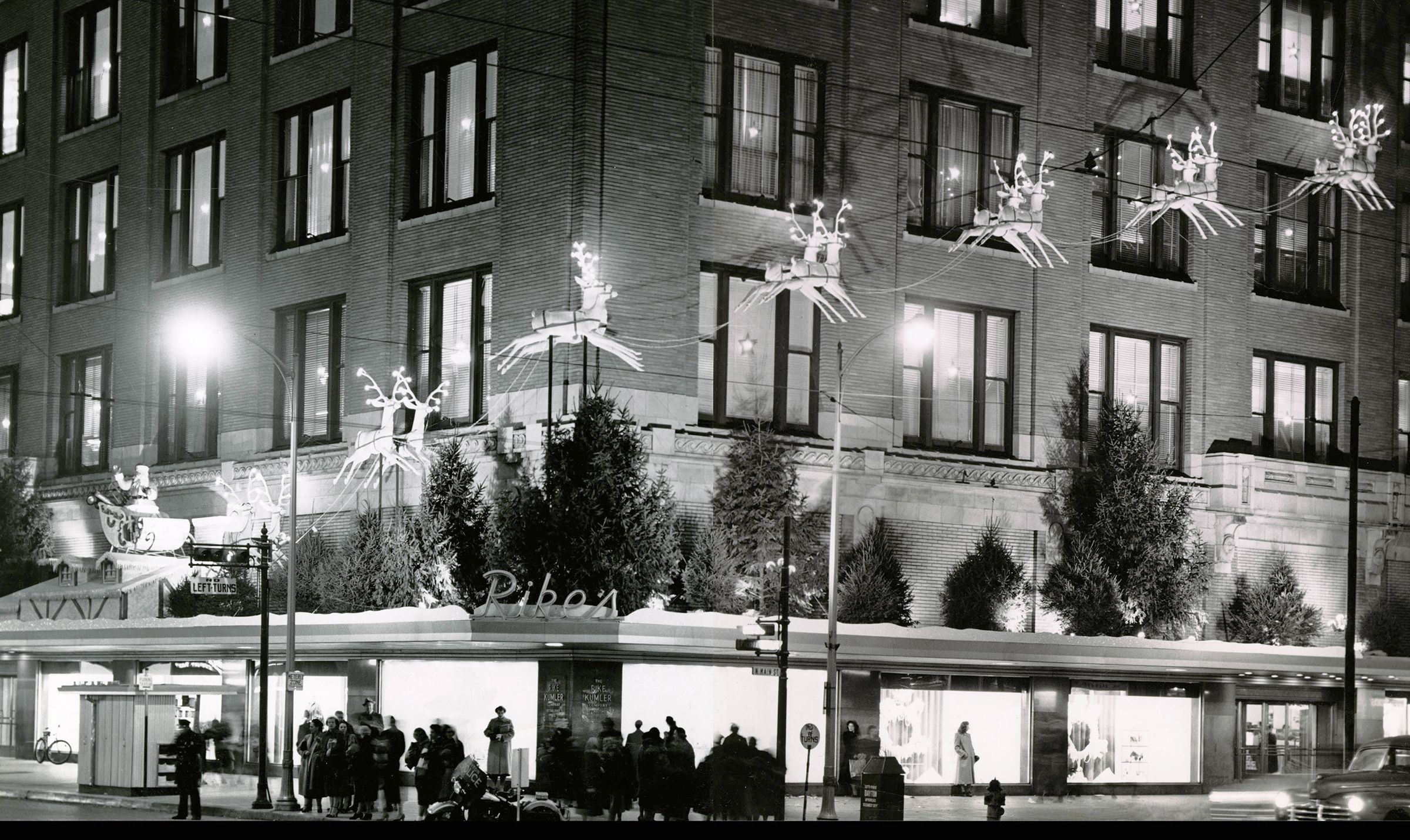 Visitors take in the windows of Rike's department store in 1952.  Frederik Rike, owner of the Rike-Kumler Co., moved the Christmas window displays from New York City to downtown Dayton in 1945. DAYTON DAILY NEWS / WRIGHT STATE UNIVERSITY SPECIAL COLLECTIONS
