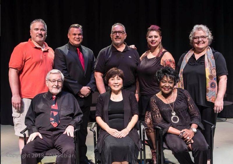 Jim Lockwood and the cast of Dayton Playhouse's FutureFest 2018 production of