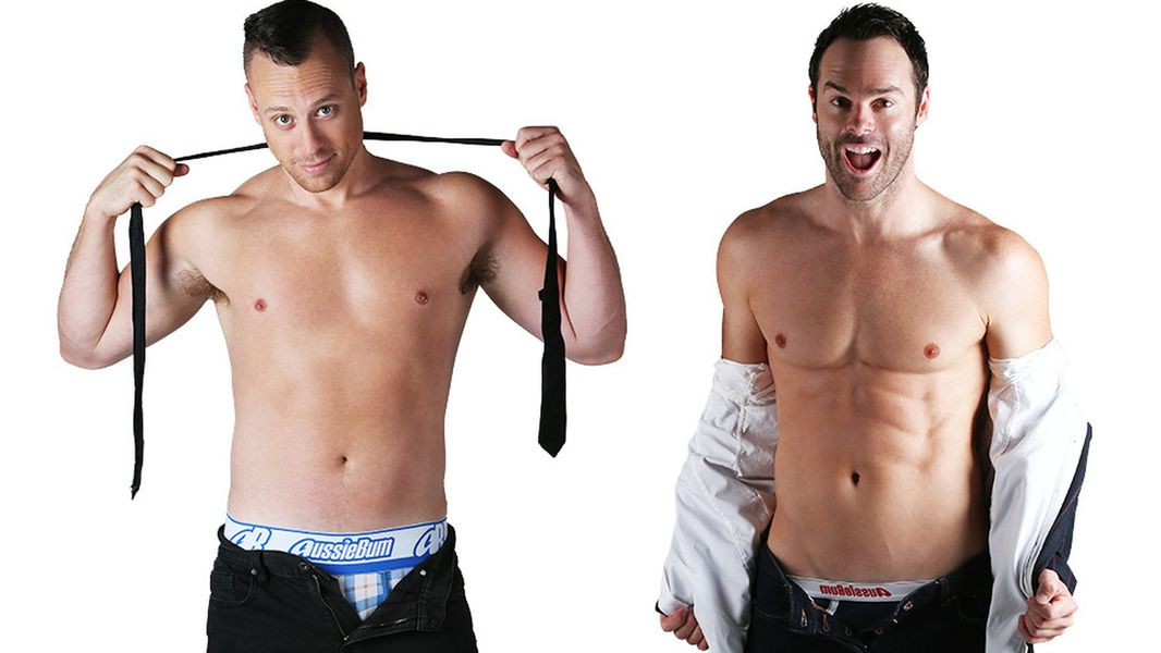 Naked Aussie magicians Christopher Wayne and Mike Tyler