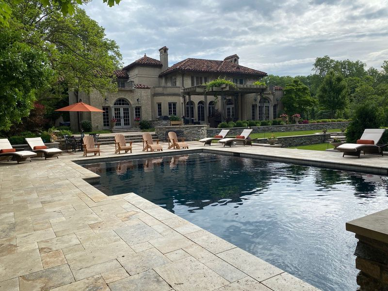 This Tuscan retreat is featured on the Garden Club of Dayton Tour.  Built in 1927, the Italian Revival style home is surrounded by over an acre of landscaped grounds that include a swimming pool and natural waterfall.  CONTRIBUTED