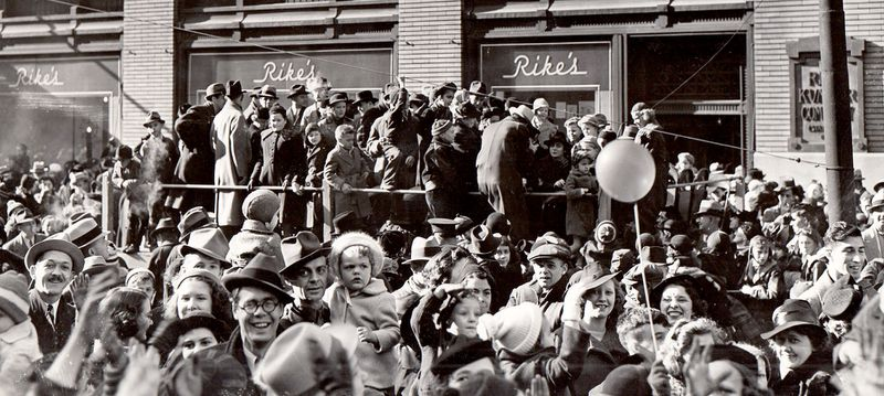 Dayton's Rike's Department Store held a Thanksgving Day Parade in Dayton from 1923 to 1942. The annual tradition ended when World War II began.  RIKE'S HISTORICAL COLLECTION, SPECIAL COLLECTIONS & ARCHIVES, WRIGHT STATE UNIVERSITY